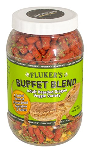 - Flukers 1 Piece Adult Bearded Dragon Veggie Variety Diet, 4.5 Oz