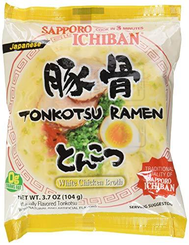 Sapporo Ichiban Ramen Artificially Flavored Tonkotsu, 3.7 Ounce (Pack of 24)