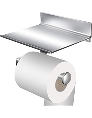 StillCool Portarrollo para Papel Higiénico de Aluminio rollo de papel Sin Taladro Con dos adhesivos 3M