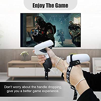 AMVR Touch Controller Grip Cover for Oculus Quest 2 Anti-Throw Handle Protective Sleeve Accessories with Adjustable Wrist Knuckle Strap