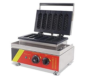 gr-tech Instrumento® Comercial Eléctrico Muffin Francés Hot Dog Panificadora Waffle máquina 110 V