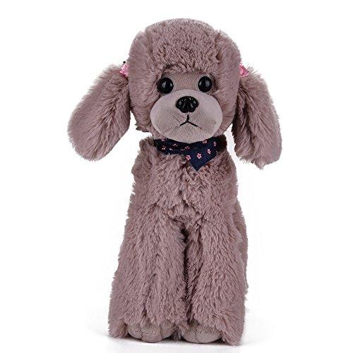 Brown Plush Dog (Lazada Plush Poodle Dog Toys Puppy Stuffed Animal Dolls Buddy Pets Kids Cute Gifts Brown 8