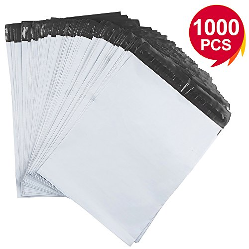 Metronic 1000 Pack 10x13 White Poly Mailer Envelopes Shipping Bags with Self Adhesive, Waterproof and Tear-Proof Postal ()