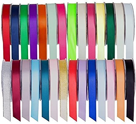 Double Faced Sided Satin Ribbon 3mm Various Lengths and Colours