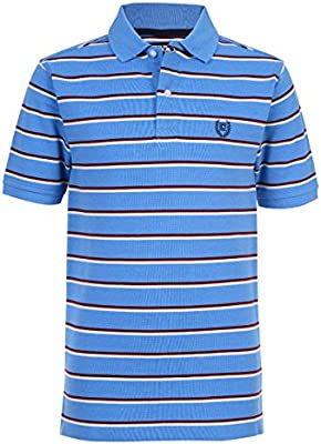 Chaps Boys Short Sleeve Striped Polo with Stretch