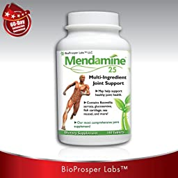 Dr. Formulas Mendamine Multi Ingredient Joint Support with Glucosamine Chondroitin MSM and More