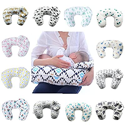 Nursing Pillow, Breastfeeding Pillow with Head Positioner For Babies, the Best Choice for Breastfeeding Moms, Soft Fabric Fits On Baby Nursing to Help Mothers While Breast Feeding