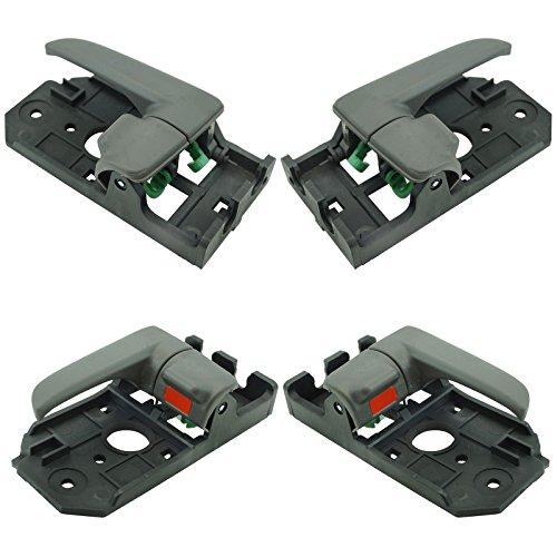 Front & Rear Interior Gray Door Handle Kit Set of 4 for 04-06 Kia Spectra