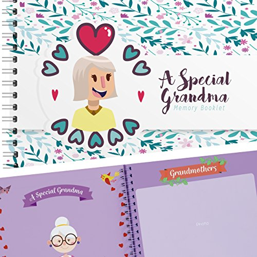 Lovely Keepsake - A Special Grandma Memory Booklet - Hardcover Scrapbook Journal Filled with Lovely Quotes and Places for Pictures of You and Your Grandmother - The Perfect Keepsake Book Gift for Your Favorite Granny