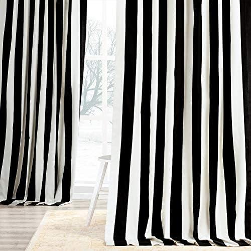 HPD Half Price Drapes PRTW-D17-108 Printed Cotton Curtain 1 Panel