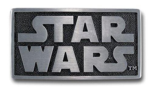 Pewter Belt Buckle Cartoon Star Wars Logo CA-052 (Mens Pewter Buckle Belt)