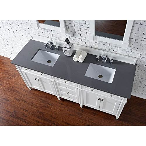 outlet Double Vanity Sink with 3 cm. Shadow Gray Quartz Top