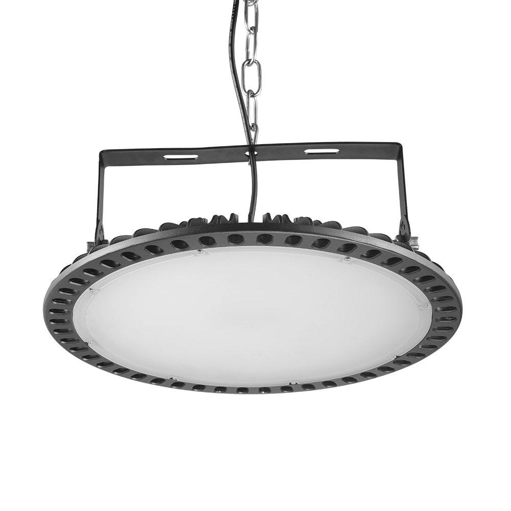 300W Led UFO Industrielampe kaltweiß, LED Beleuchtung Industriestrahler, Industrieleuchte, 6000-6500K IP54 Strahler Wasserdichter Staubschutz LED Buchtbeleuchtung[Energieklasse A+] (1 Er, 300W)