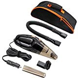 #5: [URPGRADED] Car Vacuum Cleaner, SCOPOW 12V 106W CE RoHS Auto Vacuum Handheld Cleaner Mini Portable for Water Wool Feather Hair with Carry Bag [ 4 Vacuum Mouth, Suction 3KPA, 16.4 FT Cord ]