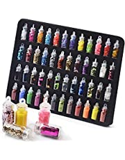 VOLODIA 48 Bottles Nail Art Sequins Glitter Shine Powder Manicure Decoration Nail Glitter Powder Sequins Manicure Sticker Design DIY Tip