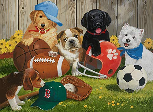 Ravensburger Let's Play Ball! 100 Piece Jigsaw Puzzle for Kids – Every Piece is Unique, Pieces Fit Together Perfectly by Ravensburger