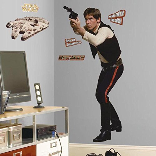 Roommates Rmk1588Gm Star Wars Classic Han Solo Peel And Stick Giant Wall Decal