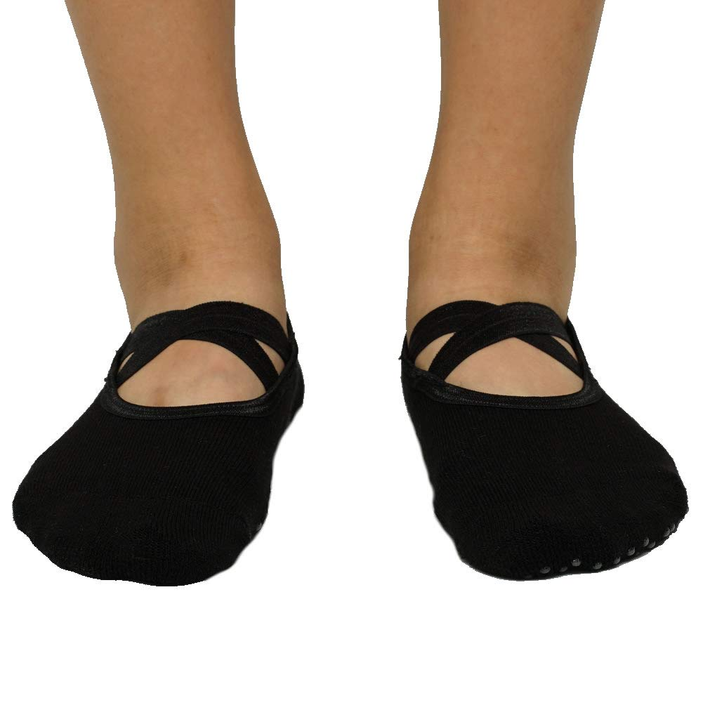 MuYiTai Womens Yoga Socks Non Slip With Grips for Ballet Pilates Barre MYTYOGASO002
