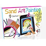 Genius Art Sand Art Painting - Arts and Crafts Toys for Girls and Boys - This Set is for Kids Aged 3 and up - Stocking Stuffers for Kids