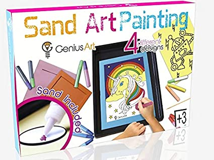 Genius Art Sand Art Painting Arts And Crafts Toys For Girls And Boys This Set Is For Kids Aged 3 And Up Stocking Stuffers For Kids