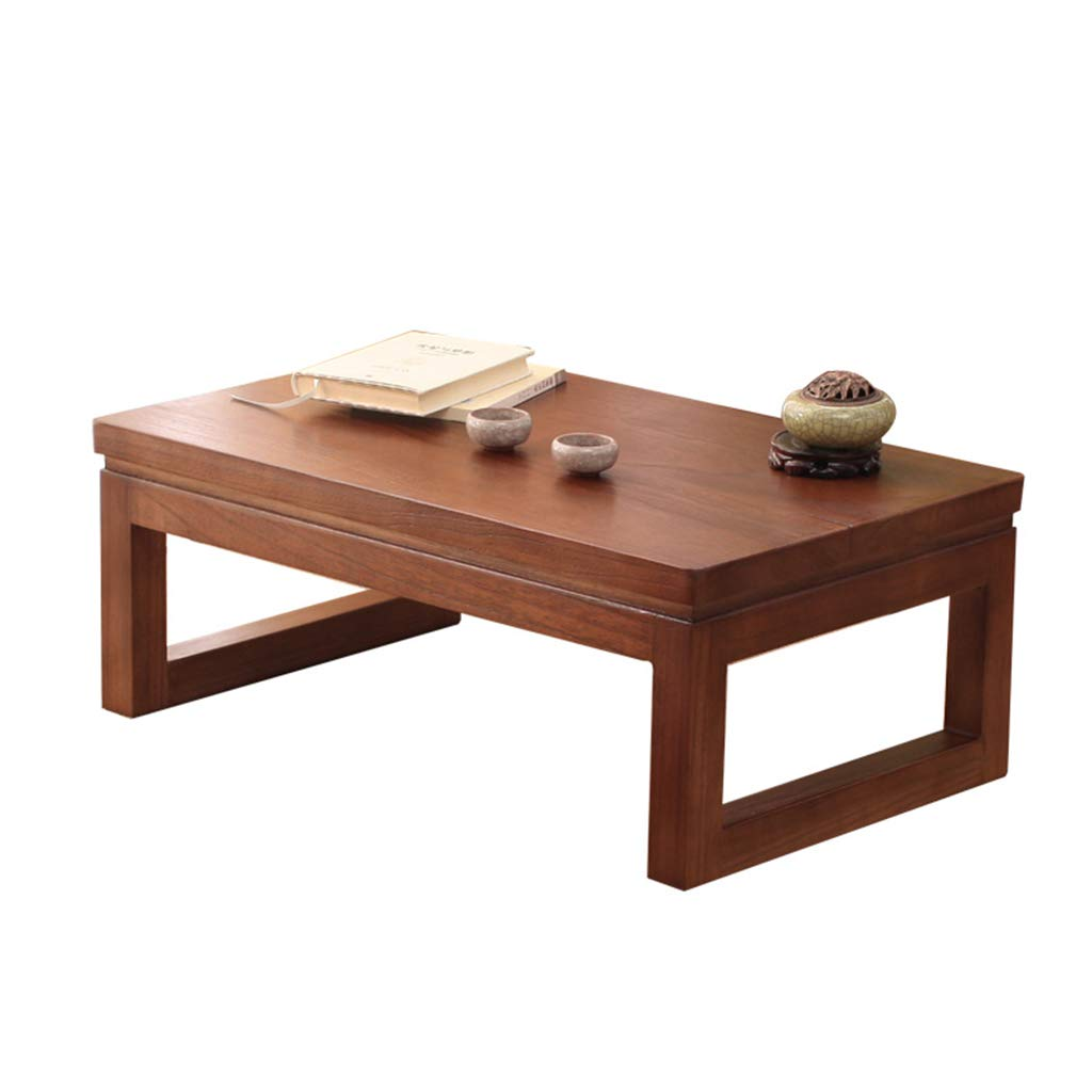 HSLXD.SMZZ Bay Window Table Household Small Coffee Table Japanese-Style Solid Wood Balcony Tea Table Wooden Low Table Small Leisure Table Furniture,Browna,905030CM by HSLXD.SMZZ