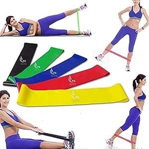 Bandas elasticas de resistencia, Gym y fitness: Amazon.es ...