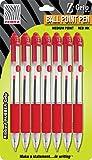 Zebra Pen Z-Grip Retractable Ball Point Pen, 1.0mm, Red, 7 Pack (22273)