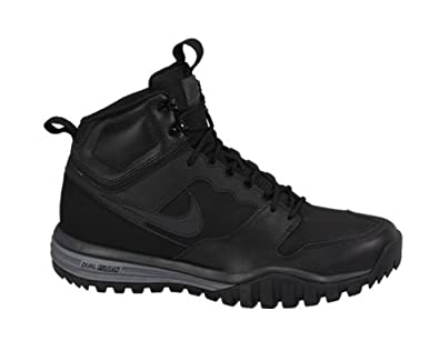 NIKE Men's Dual Fusion Hills Boots (Leather) Black/Anthracite/Black 6