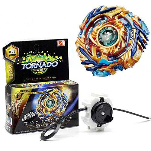 Beyblade Burst B-79 Starter Drain Fafnir.8.Nt Battle with Launcher Spinning Top Gyro Fight Toy Metal Booster Kid Gift