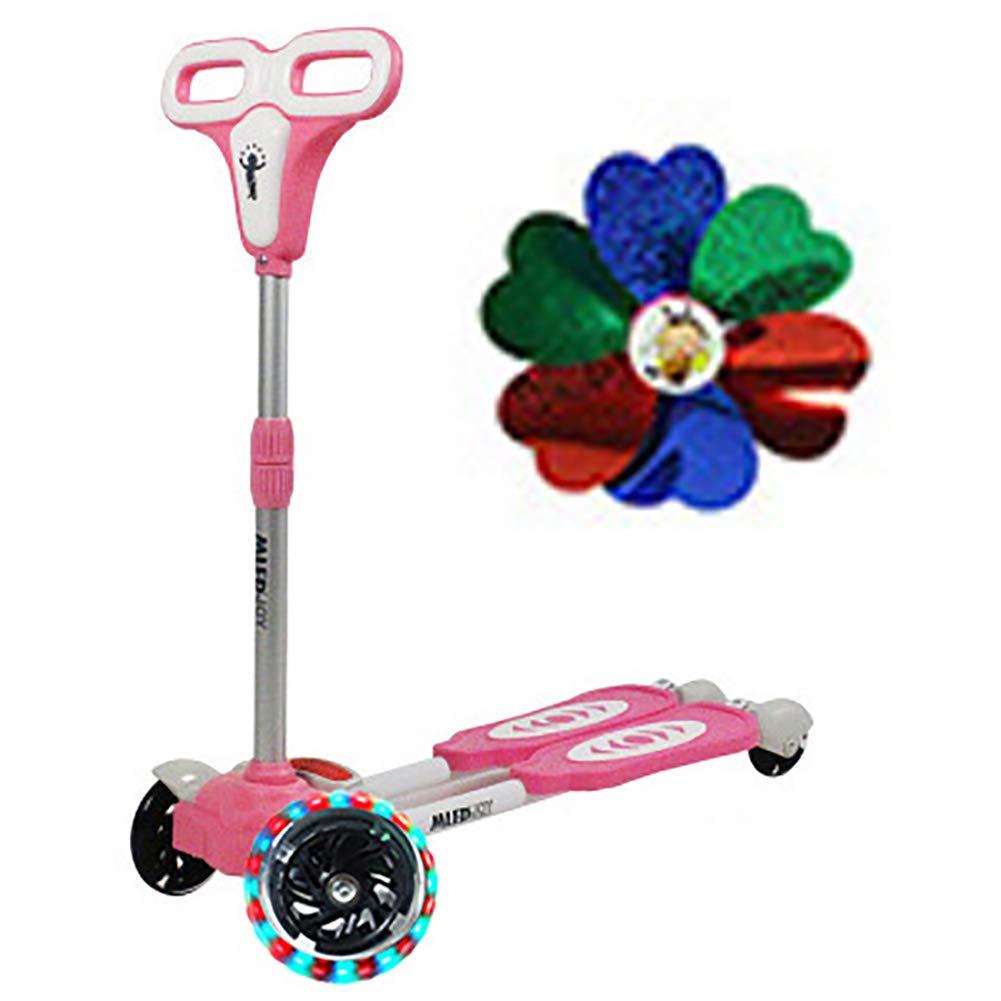 キックボード本体 29歳の男の子/女の子のための調節可能な子供のキックスクーター、50kgの負荷のための取り外し可能なフラッシングホイールスクーター、幼児のための最高のギフト (色 : Red) B07L4W6LC6 Pink Pink