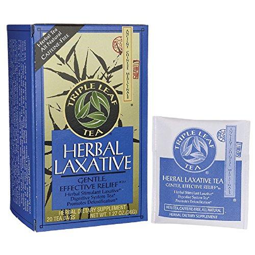 Triple Leaf Tea Tea Herbal Laxative 20 bag (The Best Laxative Tea)