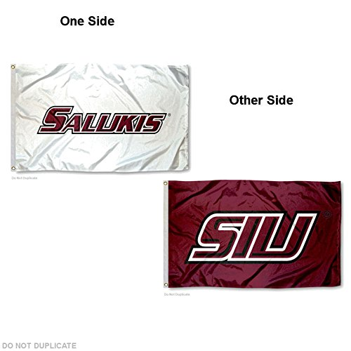 Southern Illinois University Salukis Dual Logo Double Sided Flag