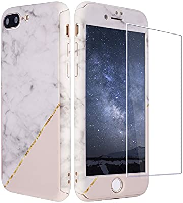 zxk co iphone 7 case with tempered