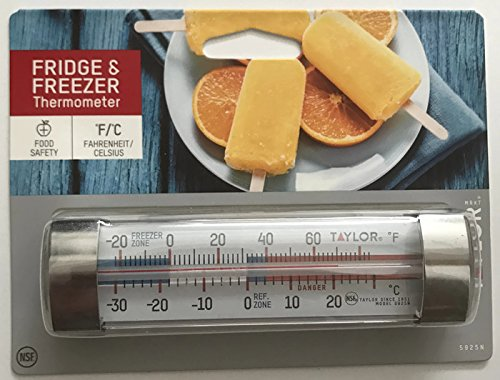 Taylor Precision Products Classic Design Freezer/Refrigerator Utility Thermometer  (2 PACK)