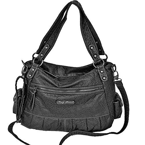 Borsa Street Bag Elegante Borsa Donna Xx Tracolla Borsa Da Sera Clutch Shopper Nero- Da Beauty-butterfly24