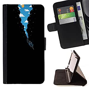 Momo Phone Case / Flip Funda de Cuero Case Cover - Surrealista Vía Láctea Buceo;;;;;;;; - Samsung Galaxy J1 J100