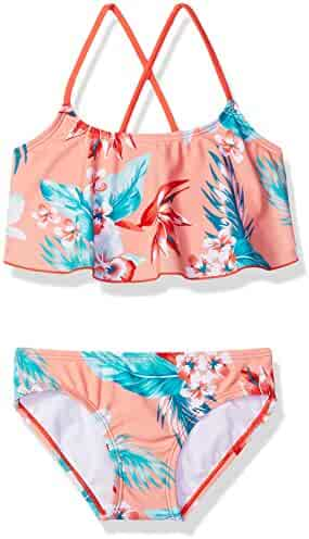 Kanu Surf Girls' Alania Flounce Bikini Beach Sport 2-Piece Swimsuit