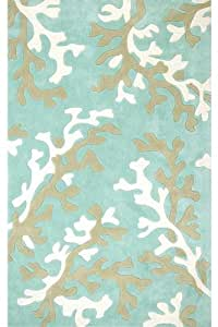 Amazon.com: Coral Area Rug, 2'x3', AQUA: Kitchen & Dining