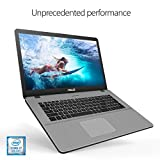 "ASUS VivoBook Pro Thin & Light Laptop, 17.3"" Full HD, Intel i7-8550U Processor, 16GB DDR4 RAM, 256GB M.2 SSD + 1TB HDD, NVIDIA GeForce GTX 1050 4GB, Backlit KB, Windows 10 - N705UD-EH76, Star Gray"