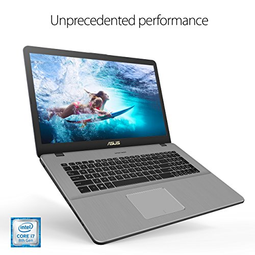ASUS VivoBook Pro Thin & Light Laptop, 17.3 Full HD, Intel i7-8550U, 16GB DDR4 RAM, 256GB M.2 SSD + 1TB HDD, GeForce GTX 1050 4GB, Backlit KB, Windows 10 - N705UD-EH76, Star Gray, Casual Gaming