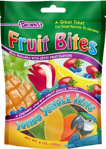 Fruit Bites Jumbo Jungle Jems Pet Bird Treat, 6-Ounce