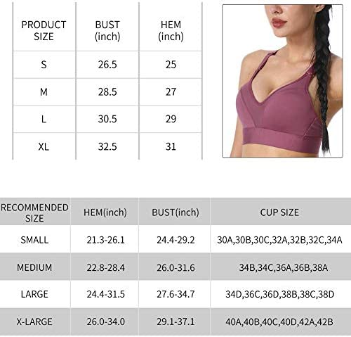 Rocorose Women's Full Support High Impact Wirefree Bounce Control Racerback Workout Yoga Sports Bra