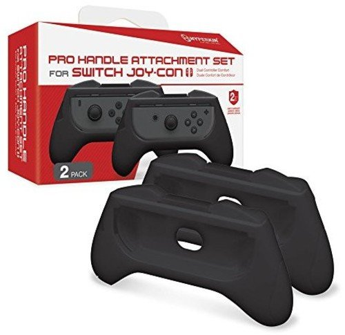 Hyperkin Pro Handle Attachment Set for Nintendo Switch Joy-Con (Black) (2-Pack)