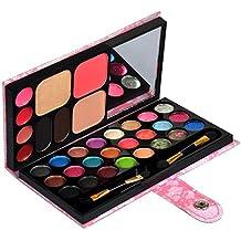 Ecvtop Professional Makeup Kit Eyeshadow Palette Lip Gloss Eyebrow Powder Face Powder Blush Concealer,33 Color