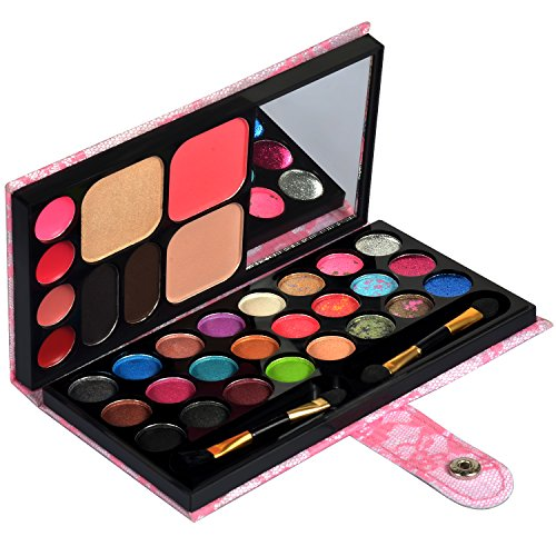 (Ecvtop Professional Makeup Kit Eyeshadow Palette Lip Gloss Eyebrow Powder Face Powder Blush Concealer,33 Color)