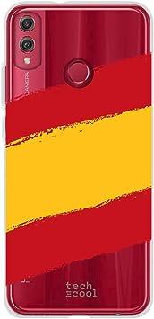 Funnytech® Funda Silicona para Huawei Honor 8X [Gel Silicona Flexible, Diseño Exclusivo] Bandera España Transparente: Amazon.es: Electrónica