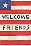 Toland Home Garden Patriotic Welcome Friends 28 x 40 Inch Decorative Americana Stars Stripes July 4 Double Sided House Flag For Sale