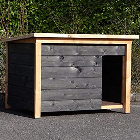 Animalhouseshop.de Selekt 3 - Caseta para Perro (Cristal Doble y Negro, 144