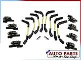 8 SPARK PLUG WIRES + 8 IGNITION COILS CTS 06-07 6.0L SILVERADO 1500 4.8L 5.3L