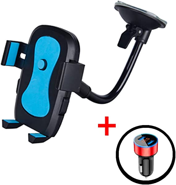 One Button Automatic Hold Cell Phone Holder for Car Phone Holder with Charger
